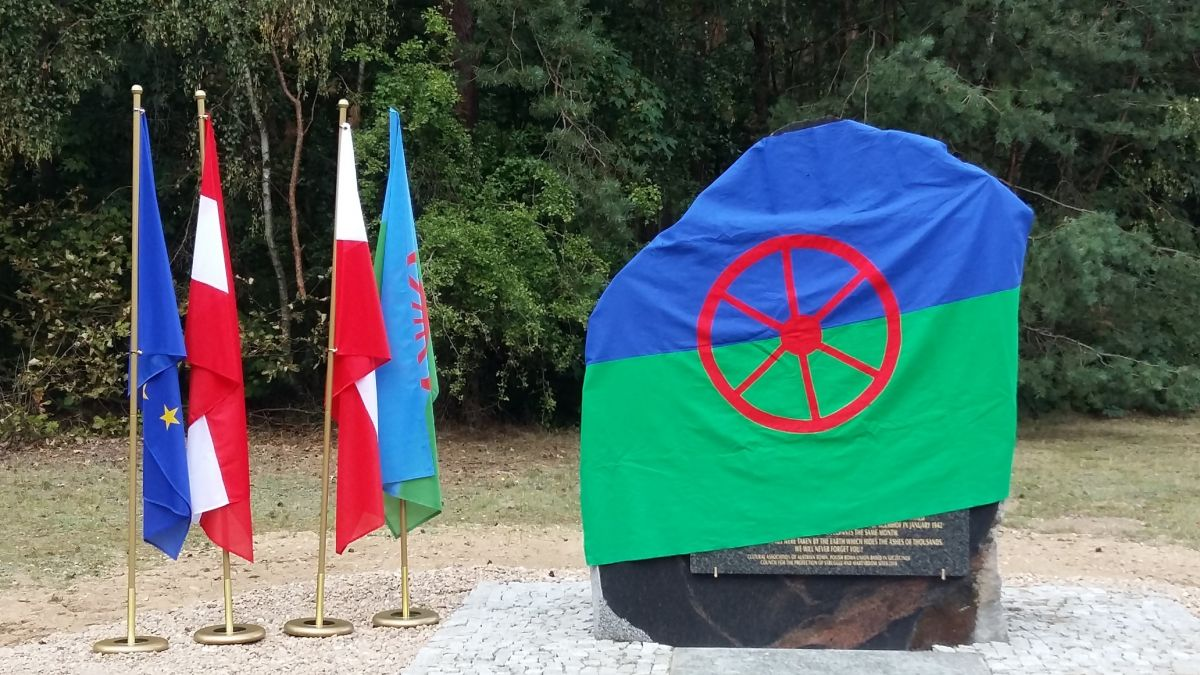 Austrian Roma memorial at Chlemno