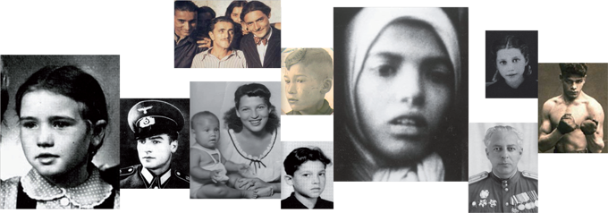Collage of archival footage, Roma and Sinti