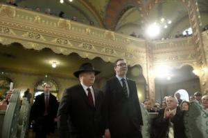 Hungarian Prime Minister Viktor Orbán and Serbian President Aleksandar Vučić at the Inauguration of the Newly Renovated Subotica/ Szabadka Synagogue